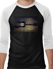 guitar island moonlight Men's Baseball ¾ T-Shirt