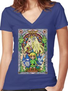 Kiss from Hyrule Women's Fitted V-Neck T-Shirt