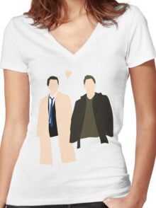 Destiel is real Women's Fitted V-Neck T-Shirt