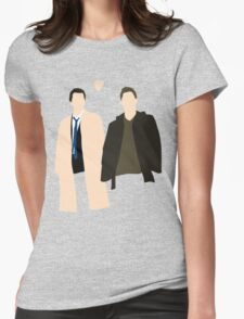 Destiel is real Womens Fitted T-Shirt