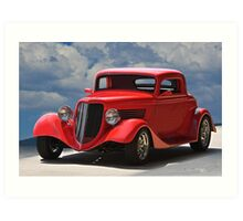 1934 Ford 'Sherrys Cherry' Coupe Art Print
