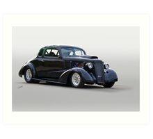 1936 Chevrolet 'Asphalt Aggravation' Coupe I Art Print