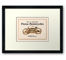 1910 Pierce motorcycles, classic American motorbike ad Framed Print