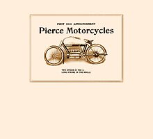1910 Pierce motorcycles, classic American motorbike ad by aapshop