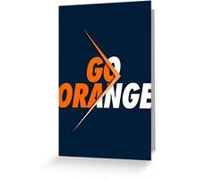 GO ORANGE - V3 Greeting Card