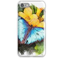 Blue and Gold - watercolour iPhone Case/Skin