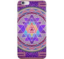 Sri Yantra Purple iPhone Case/Skin