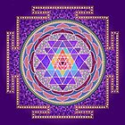 Sri Yantra Purple by SACREDMANDALA