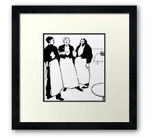 The French café waiters (les garçons de café) Framed Print