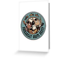 The Rockbilly Goats Gruff Logo Old Timey Greeting Card