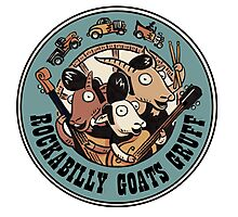 The Rockbilly Goats Gruff Logo Old Timey Photographic Print
