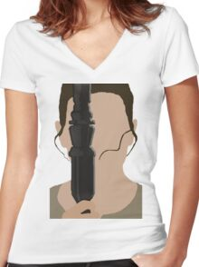 The Force Awakens: Rey Women's Fitted V-Neck T-Shirt
