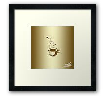 Coffee concept with floral design Framed Print