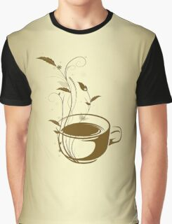 Coffee concept with floral design Graphic T-Shirt