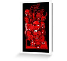 Evil Dead collage art Greeting Card
