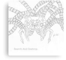 "Matrix Sentinel AKA ""Squiddy"" Canvas Print"