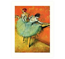 Ballerinas at the barre Art Print