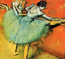 Ballerinas at the barre by aapshop