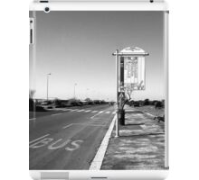 Ostia seafront: bus stop sign iPad Case/Skin