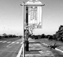 Ostia seafront: bus stop sign Sticker