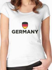 National flag of Germany Women's Fitted Scoop T-Shirt