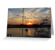 Sunset in Georgetown, SC Greeting Card