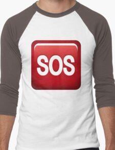 SOS emoji Men's Baseball ¾ T-Shirt