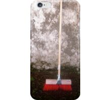 Red Sweeping Brush iPhone Case/Skin