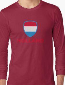 National Flag of Netherlands Long Sleeve T-Shirt