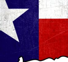 Texas flag Connecticut outline Sticker