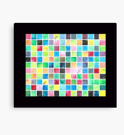 Grid Painting Canvas Print