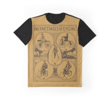 The five stages of cycling (bicycle history) Graphic T-Shirt