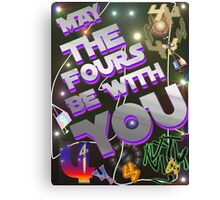 May The Fours Be With You Design Canvas Print