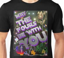 May The Fours Be With You Design Unisex T-Shirt