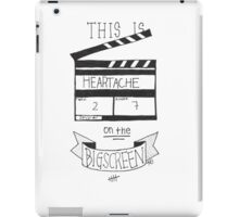 Heartache On The Big Screen Typography iPad Case/Skin