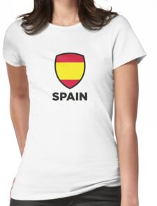 National Flag of Spain Womens Fitted T-Shirt