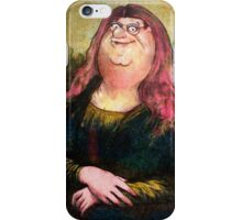 peter griffin as mona lisa iPhone Case/Skin