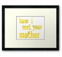 How I Met Your Mother - Umbrella Framed Print
