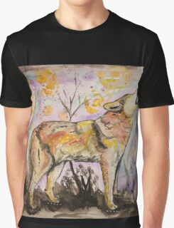 Lone Wolf Howling at the Universe Graphic T-Shirt