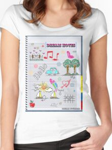 Unique cool treasure map fun gifts Women's Fitted Scoop T-Shirt