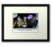 'Bots in the Bookcase Framed Print