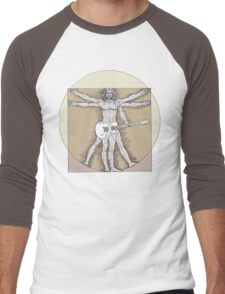 Vitruvian Rock Men's Baseball ¾ T-Shirt