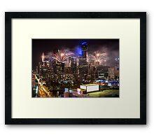 NYE Melbourne 2015 Framed Print