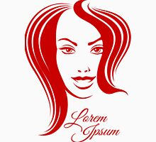 Beautiful Woman Face Emblem Unisex T-Shirt