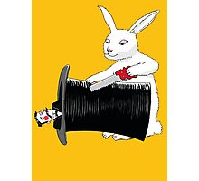 Rabbit vs. Magician Photographic Print