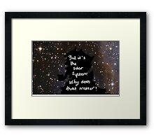 sherlock solar system  Framed Print