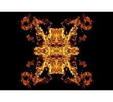 Geometric Fire shot Photographic Print