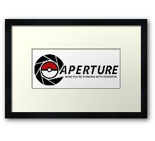 Now you're thinking with Pokemon Framed Print