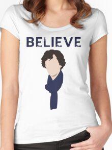 believe in sherlock Women's Fitted Scoop T-Shirt