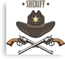 Sheriff Emblem Canvas Print